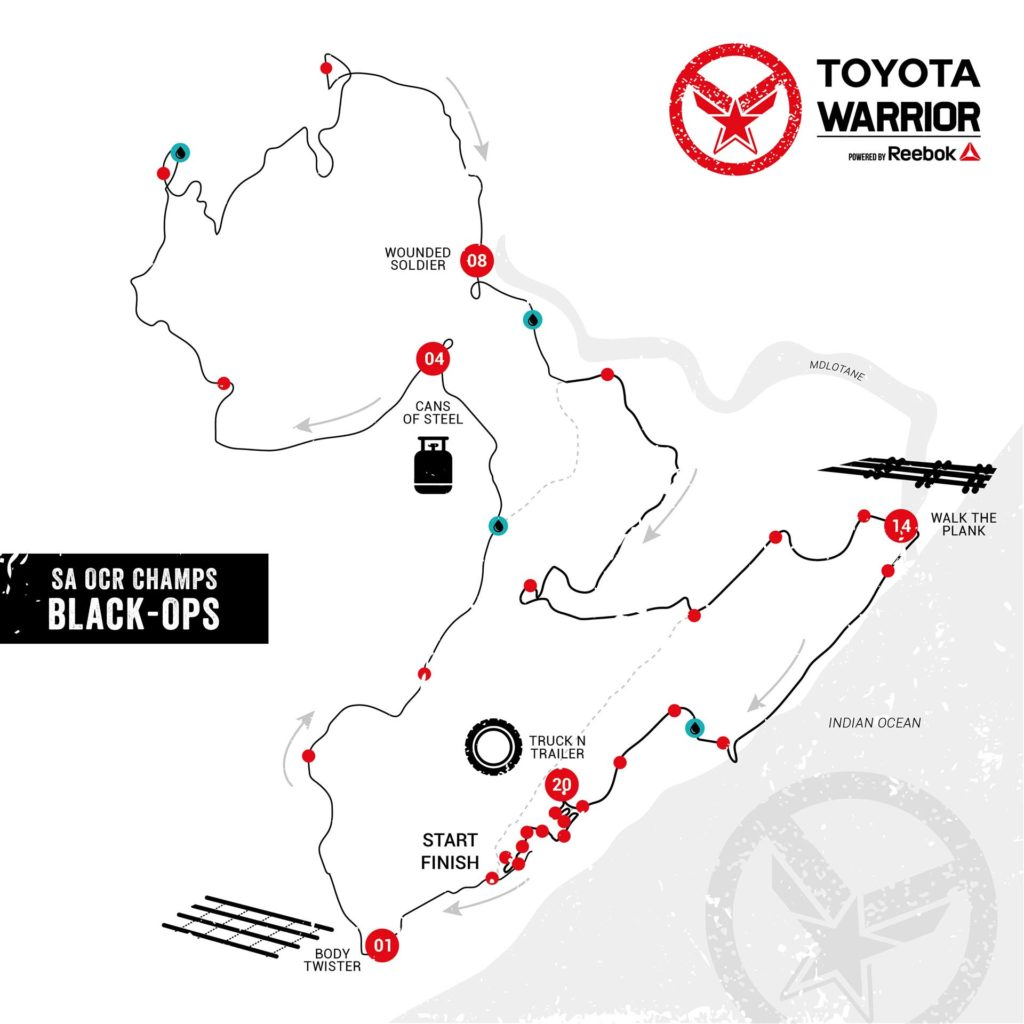 Toyota Warrior #4 Blythedale: Black-Ops Preliminary Route