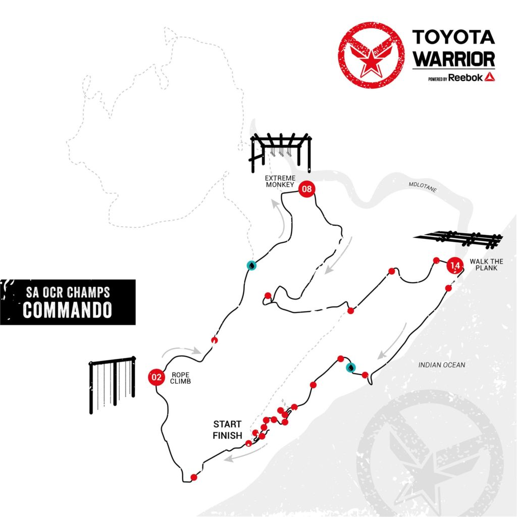 Toyota Warrior #4 Blythedale: Commando Preliminary Route